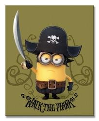 Minions pirate - obraz na płótnie