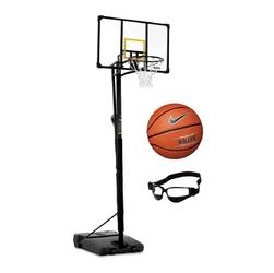Zestaw kosz do koszykówki 230-305 cm + piłka nike baller 8p + dryblerki