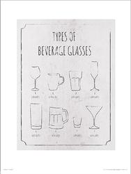 Beverage Glasses - plakat premium