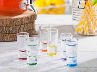 Kieliszki do wódki glasmark z kolorowym dnem 25 ml, zestaw 6 szt.
