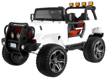 Monster jeep 4x4 biały samochód na akumulator dwuosobowy + plecak