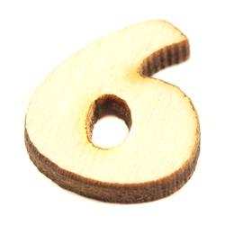 Drewniana cyfra mała 2 cm - 6 - 6