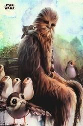 Star Wars The Last Jedi Chewbaccan Porg - plakat