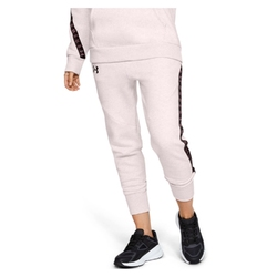 Spodnie dresowe damskie under armour fleece pant taped wm - różowy
