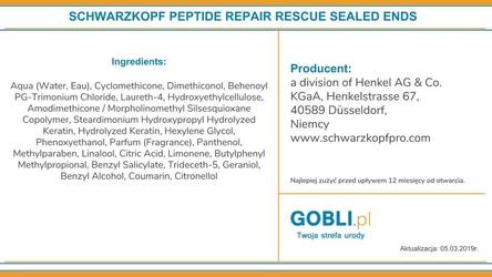 Schwarzkopf bc repair rescue, fluid na rozdwajające się końcówki 75ml