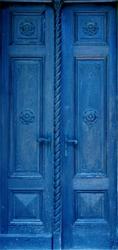 Fototapeta na drzwi drzwi niebieskie 926