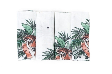Poofi 4-pak chusteczek tygrysy