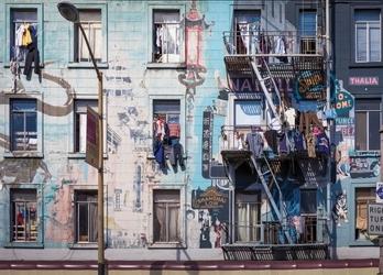 Ulica szanghaju - fototapeta