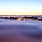 Obraz mgła unosząca się nad miastem fp 1517 p