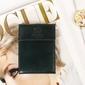 Skórzane etui na karty, dokumenty krenig classic 12034 zielone - zielony