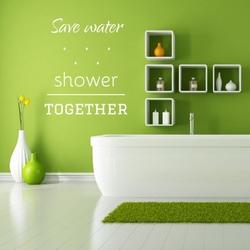 Szablon malarski save water shower together 2508