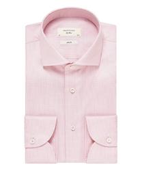 Elegancka różowa koszula profuomo sky blue z włoskim kołnierzykiem, slim fit 38