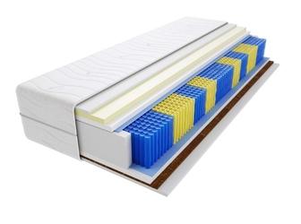 Materac kieszeniowy brema multipocket 90x230 cm średnio  twardy kokos visco memory
