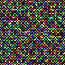 Obraz na płótnie canvas czteroczęściowy tetraptyk kolorowy wzór kratkę
