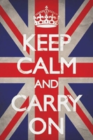 Keep calm and carry on union jack - plakat