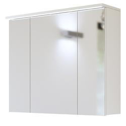 Szafka do łazienki z lustrem LED Mona 80 cm biała
