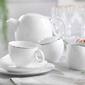 Zestaw do kawy dla 12 osób porcelana ćmielów quebec platyna