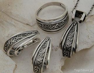 Liliana - srebrny komplet biżuterii