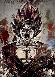 Legends of bedlam - goku, the limit breaker, dragon ball - plakat wymiar do wyboru: 70x100 cm