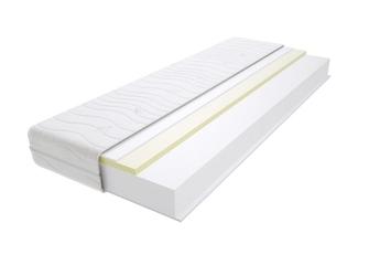 Materac piankowy maroko max plus 80x175 cm miękki  średnio twardy 2x visco memory
