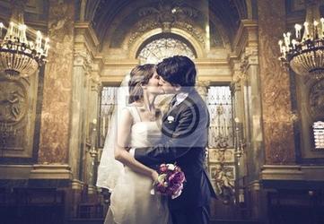 Fototapeta możesz pocałować pannę młodą