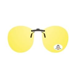 Nakładki na okulary korekcyjne żółte pilotki polaryzacja do jazdy w nocy montana c4c