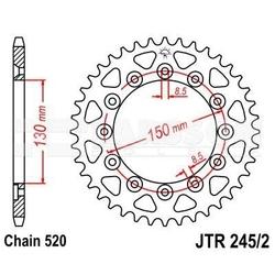 Zębatka tylna stalowa jt 2452-40, 40z, rozmiar 520 2300528 honda xr 250