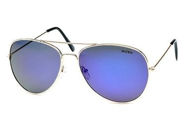 Okulary aviator lustrzane niebieskie polaryzacja mp-738