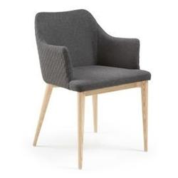 Krzesło danai z podłokietnikami ciemnoszare
