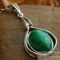 Verleo - srebrny wisiorek z malachitem