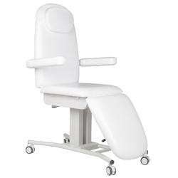 Fotel kosmetyczny na kółkach a-240 biały