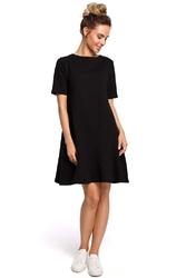 Romantyczna czarna sukienka z wiązaniem na karku o kroju litery a