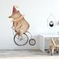 Naklejka na ścianę - circus bear , wymiary naklejki - szer. 100cm x wys. 150cm