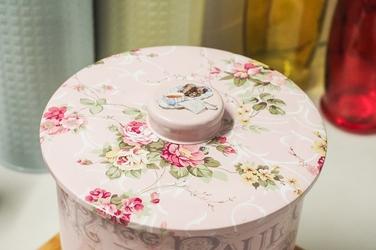 Puszka dekoracyjna na ciastka okrągła mix wzorów