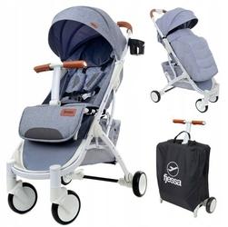Fjessa sky comfort t szary wózek do 25kg + folia + ocieplacz + moskitiera