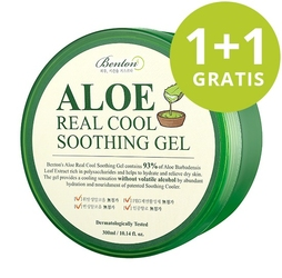 1+1 gratis benton żel kojący aloe real cool soothing gel - 300ml