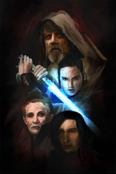 Star wars gwiezdne wojny - the last jedi - plakat premium wymiar do wyboru: 20x30 cm