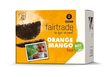 Oxfam | herbata czarna mango - pomarańcza saszetki 36g | organic - fairtrade