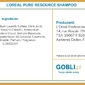 Loreal pure resource, szampon do przetłuszczających się włosów 500ml