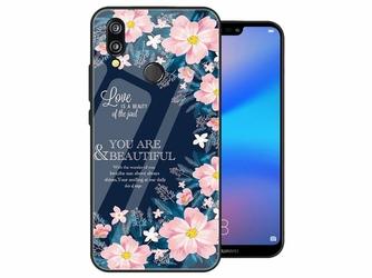 Etui Alogy Glass Armor Case do Huawei P20 Lite Kwiaty + Szkło - Kwiaty