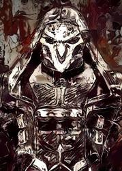 Legends of bedlam - reaper, overwatch - plakat wymiar do wyboru: 29,7x42 cm