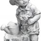 Figura ogrodowa betonowa dziecko z konewką i doniczką 49cm