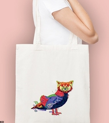 Panda + kaczka. kosmos torba na zakupy naturalna universal