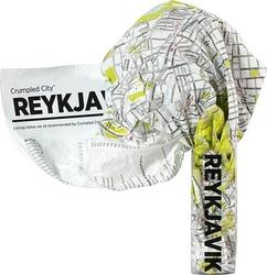 Mapa crumpled city reykjavik