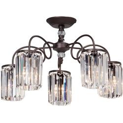 Lampa sufitowa pięcioramienna, kryształowe klosze vitaluce ve5203-85pl