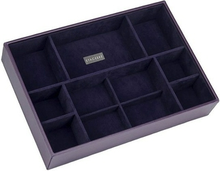Pudełko na biżuterię 11 komorowe supersize Stackers fioletowe