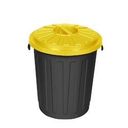Kosz na śmieci do segregacji keeeper mats 23 l żółty