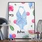 Plakat w ramie - fashion is my drug , wymiary - 60cm x 90cm, ramka - biała