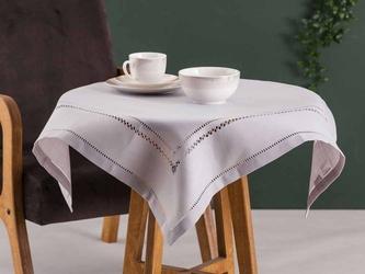 Obrus  serweta na stół altom design popiel z ażurowym wykończeniem 80 x 80 cm