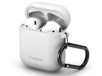 Spigen etui silikonowe case do apple airpods white - biały